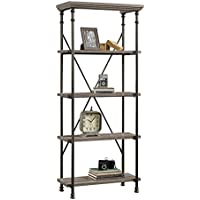 Sauder 419228 Bookcases, Furniture 5-Shelf, Northern Oak