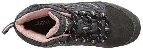 Hi-Tec Idaho Wp High Rise Hiking Zapatillas para Mujer Gris - Grey (Charcoal/Grey/Blush)