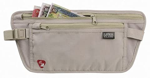 Lewis N. Clark RFID-Blocking Waist Stash Anti-Theft Hidden Money Belt, Taupe, One Size (Last Kings Pouch)