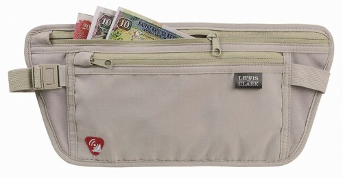 Lewis N. Clark RFID-Blocking Waist Stash Anti-Theft Hidden Money Belt, Taupe, One Size (Travel Waist Pack)