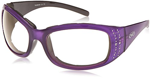 Global Vision Eyewear Marilyn 2 24 Plus Series Sunglasses with Crystal Reflection Purple Frame and Clear Photochromatic Lenses