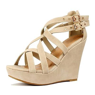Top Moda Lindy-3 Platform Sandals MVE Shoes, mve Shoes Lindy 3 Beige Nelly Size 8