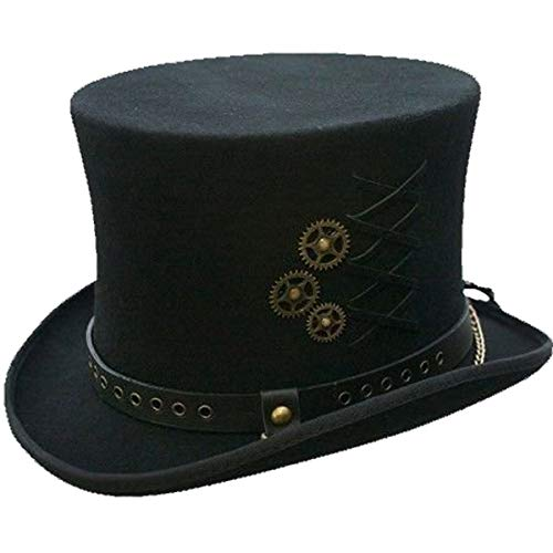 SteamPunk Top Hat, Black, XXL -