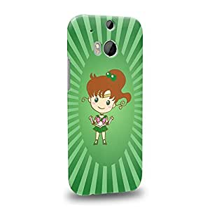 Imaginative Premium Designs Art Sailor Moon Crystal Sailor Animated Chibi Sailor Jupiter Protective Snap-on Hard Back Case Cover for HTC One M8 by ruishername