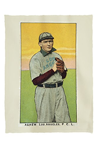 - Lantern Press Los Angeles Pacific Coast League - Agnew - Baseball Card 23391 (60x80 Poly Fleece Thick Plush Blanket)