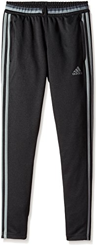 (adidas Youth Soccer Condivo 16 Pants, Black/Vista Grey, X-Large)