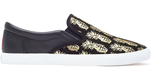 WNS 6 Canvas Gold Black Pineappleade Leather Bucketfeet txqnF8v