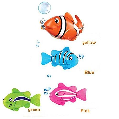 1Pcs Robofish elektronisches Spielzeug Aktivbatteriebetriebene Robo-Fisch scherzt Roboter-Haustier-magische Novel Turbot Schwimmen Anemonenfisch orange Farbe