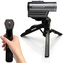 iGadgitz 2 in 1 Pistol Grip Stabilizer and Mini Lightweight Table Top Stand Tripod for Contour Action Cam +2, Roam 2, Roam 3