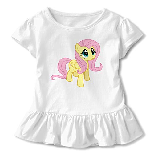 Syins Girls My Little Pony Fluttershy Print Flouncing Short Sleeves Petticoat T-shirt White