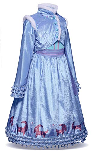 Winter Princess Costume - AmzBarley Princess Anna Costume for Girls