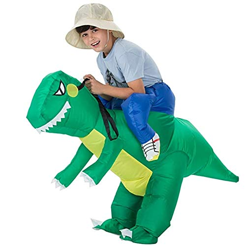 BlueSpace Inflatable Costumes Hallowenn Cosplay Costumes Gaint Dinasour Suit for Audlts and Kids,M