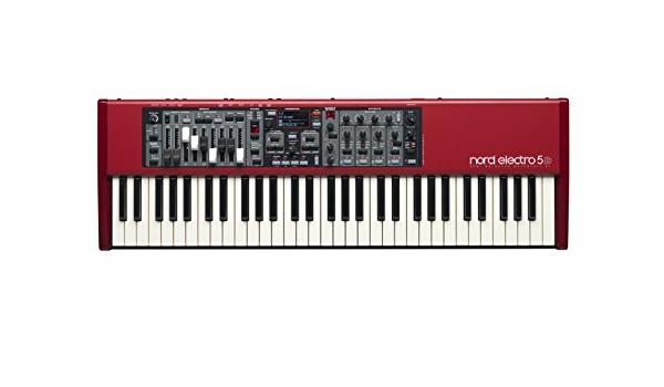 Clavia DMI AB Nord Electro 5D 61 - Teclado MIDI (USB, 90 cm, 29,6 cm, 9,7 cm) Negro, Gris, Rojo, Color blanco