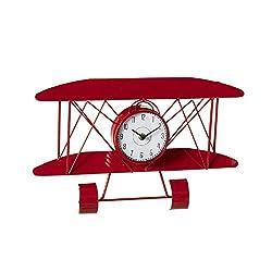 Midwest-CBK Ganz Red Airplane Wall Clock