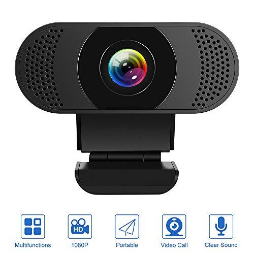 🥇 Kaulery Webcam con micrófono con cancelación de Ruido