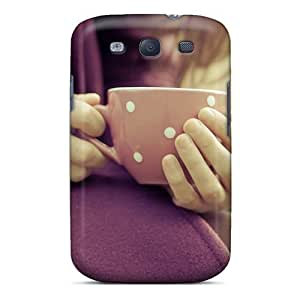 Durable Girl Hands Cup Mood Coats Back Case/cover For Galaxy S3
