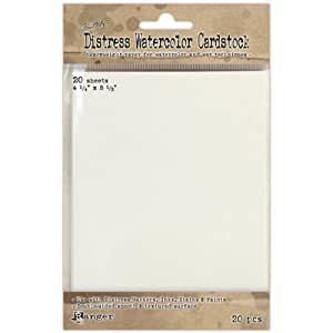Ranger Time Holtz Distress Watercolor Cardstock, 4.25 by 5.5-Inch, 20-Pack