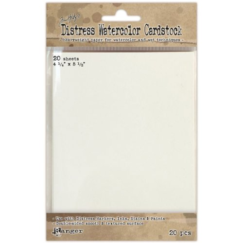 Ranger Time Holtz Distress Watercolor Cardstock, 4.25 by 5.5-Inch, 20-Pack (TDA39549)