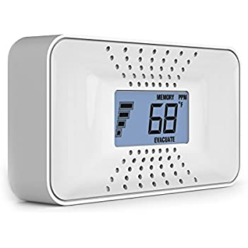 First Alert CO710 Carbon Monoxide Alarm with 10-Year Battery and Digital Temperature Display