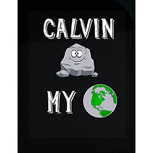 Calvin Rocks - Calvin Rocks My World Funny Cute Valentines Day Gift - Sticker