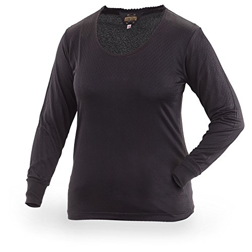 UPC 885344219161, Guide Gear Women's Long Sleeve Silk Base Layer Top, Black, M