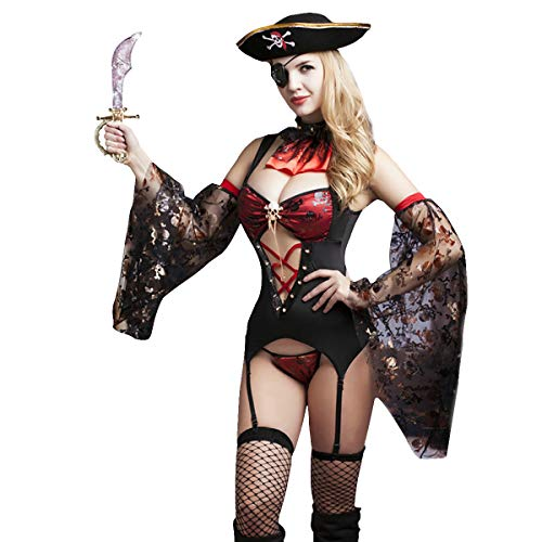 Pirate Sexy Lingerie (Sexy Pirate Costume Outfit Lingerie Uniform Playwear Corsair Role Play)