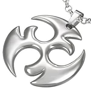 De acero inoxidable de símbolo Tribal Estrella Ninja ...