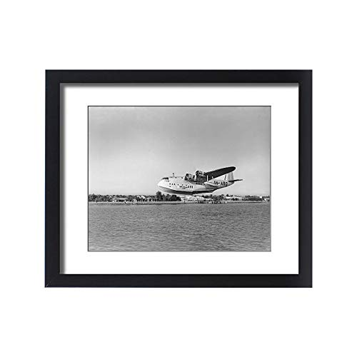 (Media Storehouse Framed 20x16 Print of Short C-Class Flying Boat VH-ABD of Qantas (14633681))