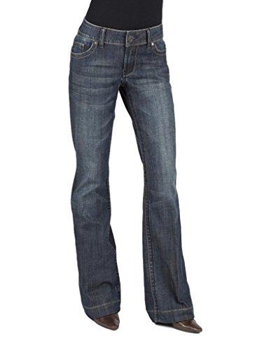 Crinkle Denim Jeans - 4