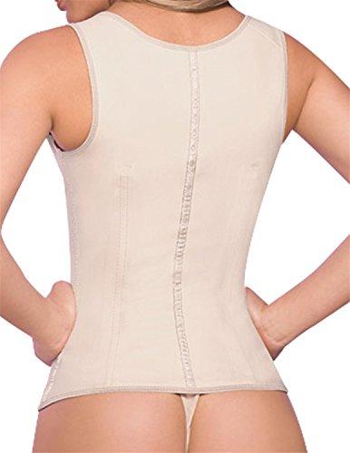 Musiclovely sexy Ann Chery Chaleco Latex Vest 2027 BeigeXXXXXX-Large / 48