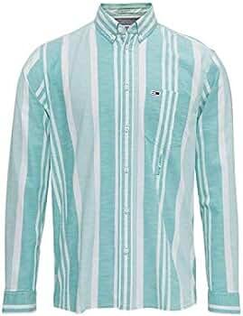 Tommy Jeans Camisa Rayas Turquesa Hombre XL Turquesa: Amazon.es: Ropa y accesorios