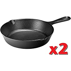 Lodge H5MS Heat Enhanced and Seasoned Cast Iron Mini Skillet, 5-Inch - Pack of 2