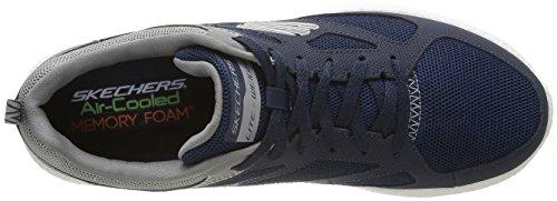 Skechers Hombres Burst Sneaker Azul Marino / Gris