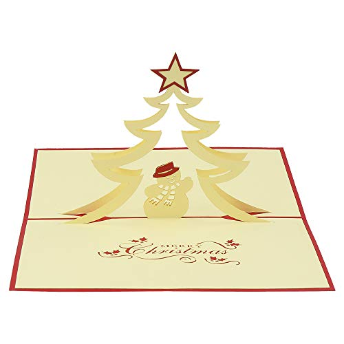 3d card - X'mas snow card – for occasions like Christmas Cards, Greeting Cards, Congratulation Cards, Lunar New Year ()