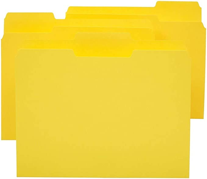 Staples Colored Top-Tab File Folders 3 Tab Blue Letter Size 24//Pack 659787