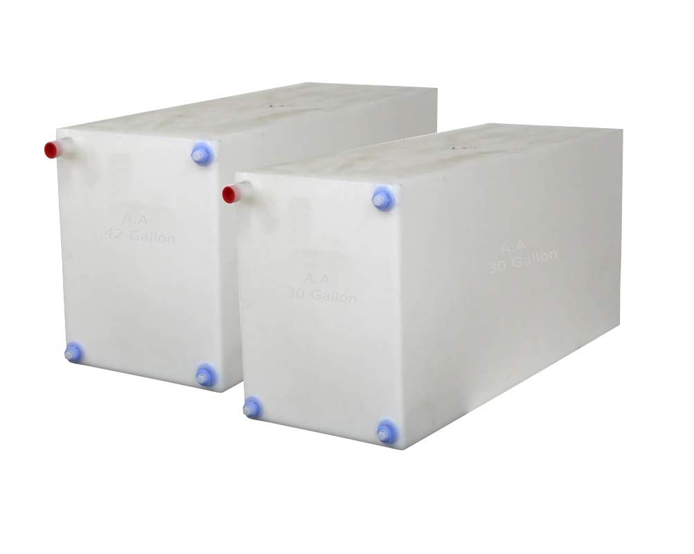 A.A Fresh and Gray Water Holding Tank | Combo Pack | RV Water Holding Tanks | Camper Holding Tanks - BPA Free (30 Gallon & 42 Gallon)