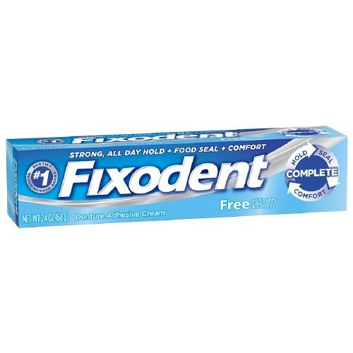 Fixodent Odorless Denture Adhesive Cream 2.4 Ounce (Value Pack of 5)