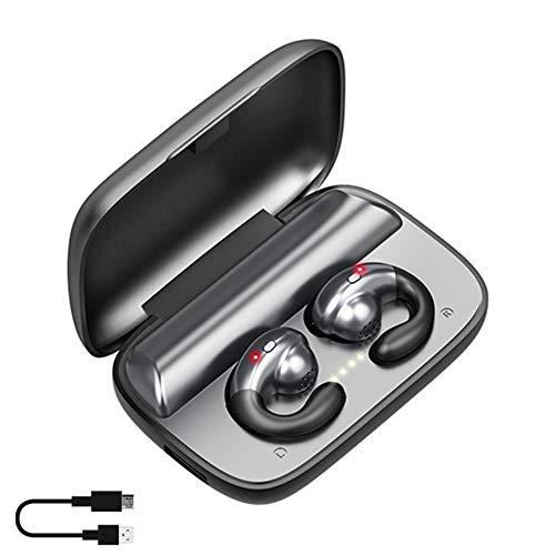 eginvic Headset Hanging Ear Bone Conduction Biaural Earphone Wireless Earbuds Bluetooth 5.0 TWS Headphones S19Wireless…