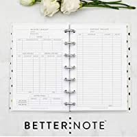 "Home Finance Kit for the Mini Happy Planner, Fits 7-Disc Notebook, One Year Supply, 4.26""x7"" (Planner Not Included)"