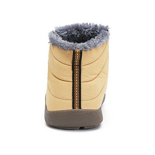 SAGUARO Herren Damen Winter Boots Outdoor Warm Gefüttert Schneestiefel Winterstiefel Gelb