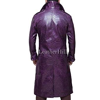 Joker Purple Trench Coat - Long Purple jacket For Men (L, Purple ...