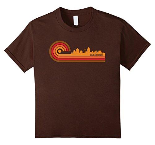 Retro Style San Antonio Texas Skyline T-Shirt
