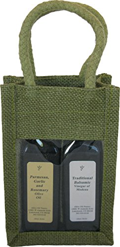 Olive Oil Pantry Infused Olive Oil and Balsamic Vinegar Petite Gift Set (Parmesan, Garlic and Rosemary Infused Olive Oil and Traditional Dark Balsamic Vinegar)