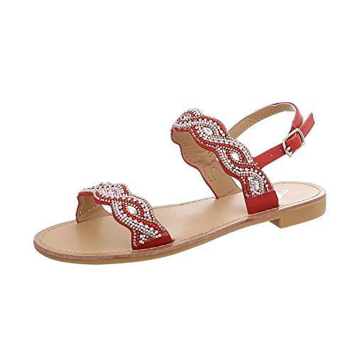 Elegante Badelatschen 41 Sandalen Damen Riemchensandale 36 Riemchen Sandalette Schuhe Sling Sommerschuhe Sandale Strass Offene 8UwZ0Ua