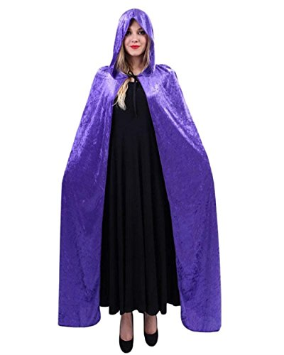 Vintage Stola Da Costume Violett2 Strega Cappotto Eleganti Il Colori Moda Per Con Glamorous Mantella Carnevale Poncho Donna Semplice Capa Cosplay Solidi Cappuccio Velluto 0R68xq