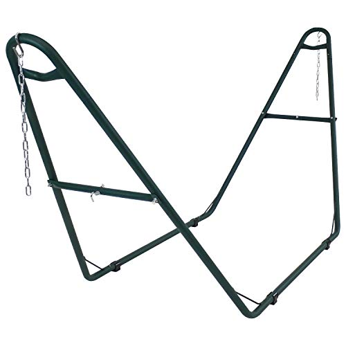 Sunnydaze 550-Pound Capacity Universal Multi-Use Heavy-Duty Steel Hammock Stand, 2 Person, Fits Hamm - http://coolthings.us