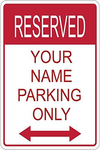 [해외]Karu Custom Reserved Your Name Here Parking Sign Aluminum Metal 8 x 12 WArrow / Karu Custom Reserved Your Name Here Parking Sign Aluminum Metal 8 x 12 WArrow