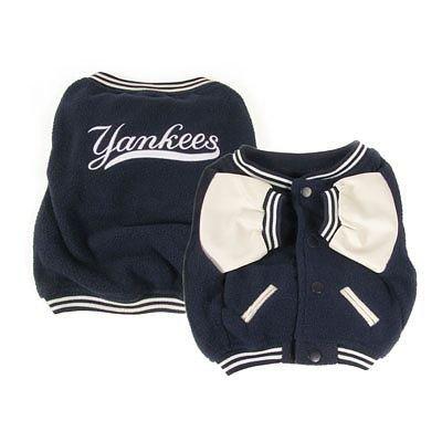 (Sporty K9 New York Yankees Varsity Dog Jacket, XX-Small)