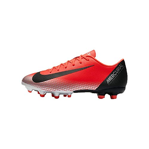 Jr Youth Soccer Shoes - NIKE Youth Soccer Jr. Mercurial Vapor XII Academy Multi Ground Cleats (4 US Big Kid)