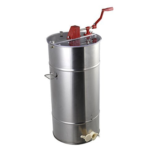 Large 2 Frame Stainless Steel Honey Extractor Honeycomb Drum Beekeeping Equipment by Everyday